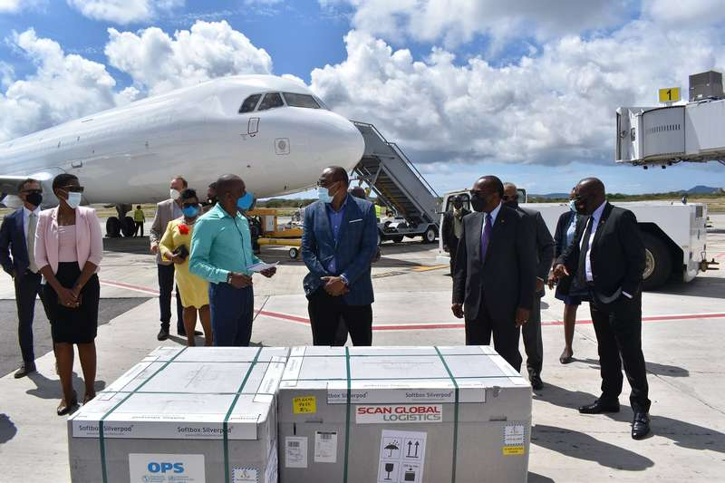 24,000 doses of Covid-19 vaccines arrived in Antigua and Barbuda earlier today